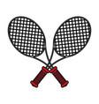 flat line rackets design vector image vector image
