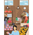 food shop farmers market poster template vector image