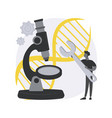 genetic engineering abstract concept vector image vector image