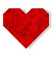 geometric polygonal heart vector image vector image