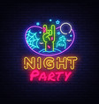 halloween party neon sign design template night vector image vector image