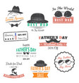 happy father s day greeting a set of nine black vector image vector image