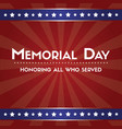 happy memorial day poster flag american vector image vector image
