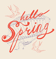 Hello Spring Banner vector image