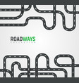 highway roads collection autoroutes vector image