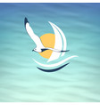 icon seagull vector image vector image