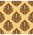 Light and dark brown seamless damask pattern vector image