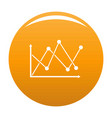 line diagram icon orange vector image vector image