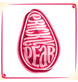 logo for prickly pear fruit vector image vector image