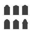 mosque window icon vector image vector image