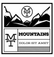 mountain vintage logo template emblem badge vector image
