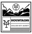 mountain vintage logo template emblem badge vector image