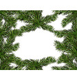 new year christmas green branch of a christmas vector image