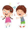 of kids dancing vector image