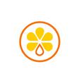 orange fruit juice nutrition logo vector image