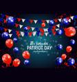 patriot day usa poster backgroundseptember 11 we vector image
