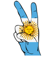 Peace Sign of the Argentinean flag vector image vector image