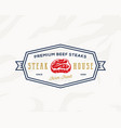 premium quality vintage meat sign steak house vector image