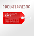 product tag vector image