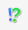 question mark exclamation marks vector image