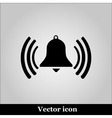 Ringing bell on grey background vector image vector image