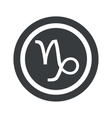 Round black Capricorn sign vector image