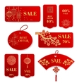 Sale banners and badges for Chinese new year vector image vector image