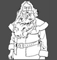 santa claus without hat vector image