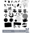 set dirty grunge elements vector image vector image