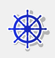 ship wheel sign new year bluish icon with vector image vector image