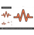 Sound wave line icon vector image vector image