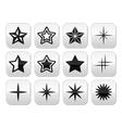 Stars christmas celebration buttons set vector image vector image