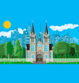 suburb church concept vector image