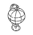 table globe icon doodle hand drawn or outline vector image