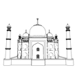 Taj Mahal outlines in very high detail 3d