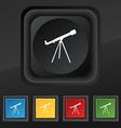Telescope icon symbol Set of five colorful stylish vector image