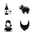 theater circus bristles and other web icon in vector image vector image