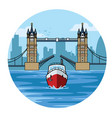 tower bridge of london vector image vector image