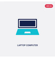 Two color laptop computer screen icon from