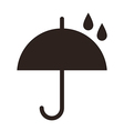Umbrella with raindrops vector image vector image