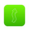 up arrow icon green vector image