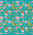 vintage floral background seamless pattern vector image vector image