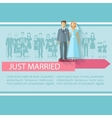 Wedding Guests Poster vector image