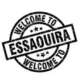 welcome to essaouira black stamp vector image vector image