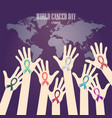 world cancer day-23 vector image