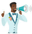young african-american groom making announcement vector image vector image