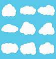 clouds set on blue background vector image