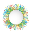 Colorful background geometric circle pattern vector image