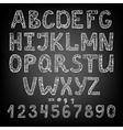 handwritten chalk ABC vector image