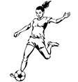 Soccer Football Female Player vector image